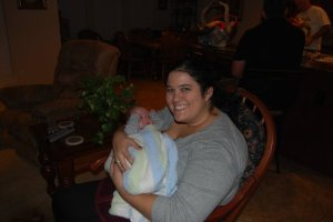 Meeting my cousin's son for the first time, no one told me I looked so BIG.